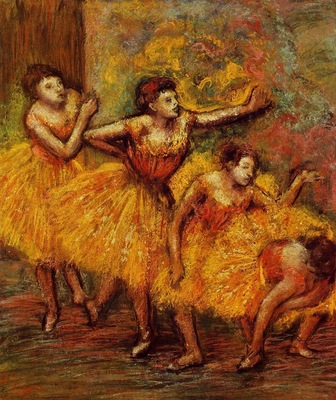 Four Dancers also known as Quatre danseuses circa 1903 PC