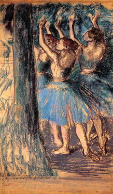 Group of Dancers Tree Decor circa 1901 PC