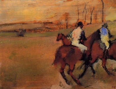 Horses and Jockeys circa 1886 1990 PC