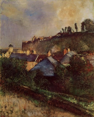Houses at the Foot of a Cliff also known as Saint Valery sur Somme 1896 1898 Columbus Museum of Art USA