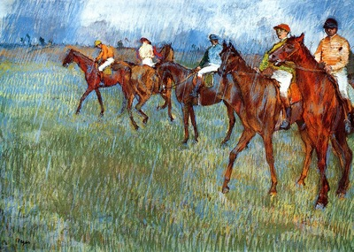 Jockeys in the Rain 1886 Glasgow Art Gallery and Museum Scotland