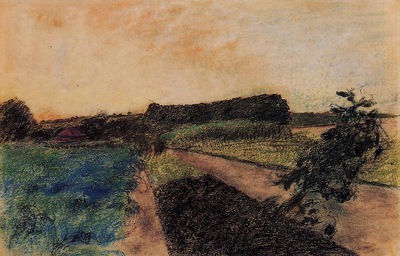 Landscape on the Orne circa 1884 PC
