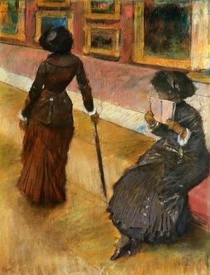 Mary Cassatt at the Louvre circa 1880 PC
