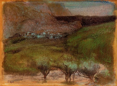 Olive Trees against a Mountainous Background circa 1890 1893 Norton Simon Museum USA