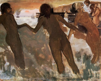 Peasant Girls Bathing in the Sea at Dusk 1875 PC