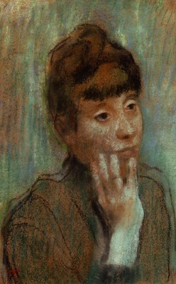Portrait of a Woman Wearing a Green Blouse 1884 PC