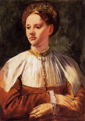 Portrait of a Young Woman after Bacchiacca 1858 1859 National Gallery of Canada