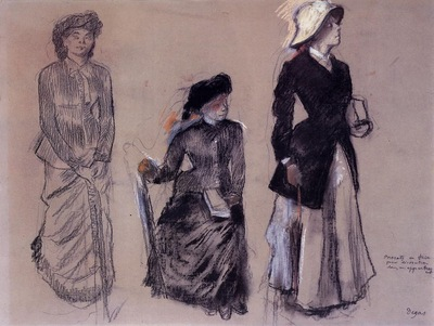 project for portraits in a frieze three women