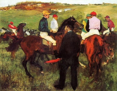Racehorses at Longchamp 1873 1875 National Gallery of Art Washington USA