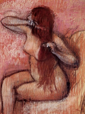 Seated Nude Combing Her Hair circa 1887 1890 Private collection