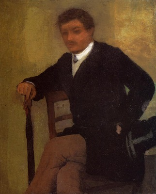 Seated Young Man in a Jacket with an Umbrella circa 1864 1868 Private collection