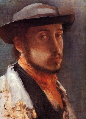 Self Portrait in a Soft Hat circa 1857 1858 Sterling and Francine Clark Art Institute USA