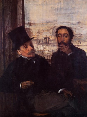 Self Portrait with Evariste de Valernes circa 1865 Musee d Orsay France
