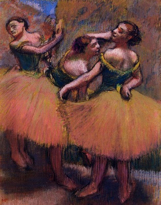 Three Dancers Green Blouses 1900 PC