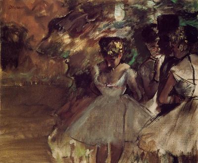 Three Dancers behind the Scenes 1880 1885 PC