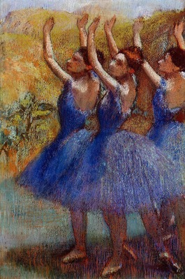 Three Dancers in Purple Skirts circa 1895 1898 The Phillips Collection USA