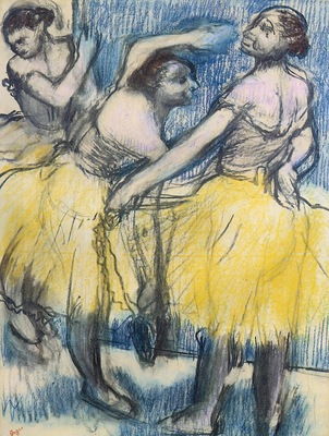Three Dancers in Yellow Skirts 1899 1904 PC