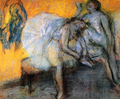 Two Dancers Resting circa 1910 Musee d Orsay France