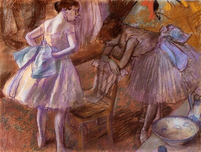 Two Dancers in Their Dressing Room circa 1880 National Gallery London England