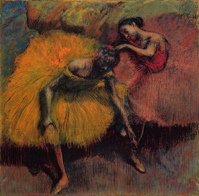 Two Dancers in Yellow and Pink circa 1900 Museu Nacional de Bellas Artes Argentina