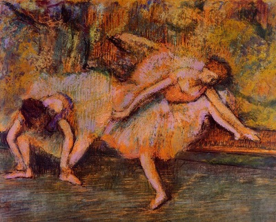 Two Dancers on a Bench 1900 1905 PC