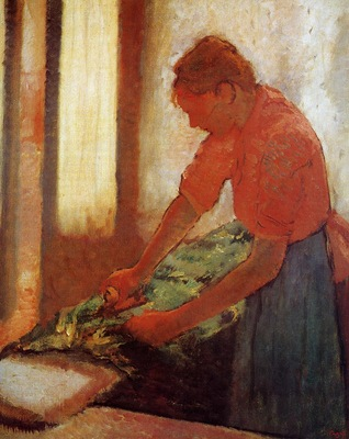 Woman Ironing circa 1880 Walker Art Gallery England