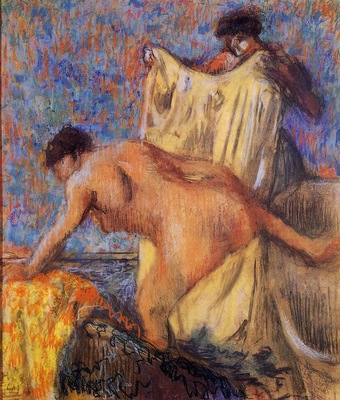 Woman Leaving Her Bath circa 1900 Kunstmuseum Solothurn Switzerland