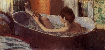 Woman in a Bath Sponging Her Leg circa 1883 1884 Musee d Orsay France