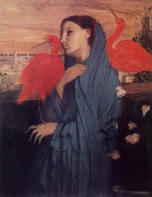 Woman on a Terrace also known as Young Woman and Ibis 1857 PC