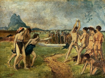 Young Spartans Exercising 1860 Fogg Museum of Art USA