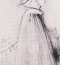 Gustave Moreau Degas aux Offices Dessin Mine de plomb sur papier blanc 163x94 cm Paris musee Gustave Moreau