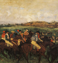 Course de gentlemen avant le depart Huile sur Toile 485x615 cm Paris musee d Orsay