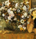 La Femme aux Chrysanthemes madame Hertel Huile sur Toile 737x927 cm New York The Metropolitan Museum of Art