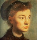 Portrait de Jeune femme Huile sur Toile 27x22 cm Paris musee d Orsay