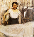 La Repasseuse Huile sur Toile 92x74 cm Munich Neue Pinakothek