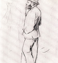 Manet aux courses Dessin Crayon sur papier brun clair 32x244 cm New York The Metropolitan Museum of Art
