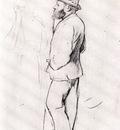 Manet aux courses Dessin Crayon sur papier brun clair 32x244 cm New York The Metropolitan Museum of Art