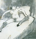 1877 Degas Edgar Repos sur le lit Rest on the bed