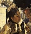 Aux Tuileries la femme a l ombrelle Huile sur Toile 27x20 cm Glasgow The Burrell Collection