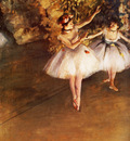 Deux danseuses en scene Huile sur Toile 62x46 cm Londres Courtauld Institute Galleries