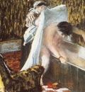 Femme sortant du bain Femme au bain Pastel sur monotype 23x31 cm Paris musee du Louvre