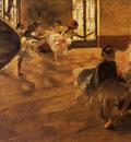 La Repetition de danse Huile sur Toile 66x100 cm Glasgow The Burrell Collection