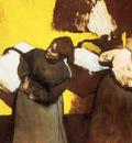 Blanchisseuses portant du linge en ville Huile sur papier maroufle 46x61 cm Angleterre Collection particuliere