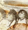 Trois filles assises de face Pastel sur monotype 16x22 cm Amsterdam Rijksmuseum