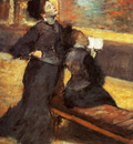 La Visite au musee Huile sur Toile 917x679 cm Boston Museum of Fine Art