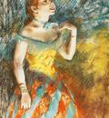 La Chanteuse verte chanteuse de cafe concert Pastel sur papier 584x457 cm New York The Metropolitan Museum of Art