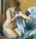 1886 Degas Edgar Femme au tub Woman with the tub