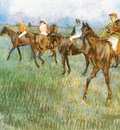 Josckeys sous la pluie Pastel 47x65 cm Glasgox The Burrell Collection