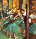 Danseuses roses et vertes Huile sur Toile 822x756 cm New York The Metropolitan Museum of Art