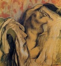 After Bathing Woman Drying Herself circa 1905 1907 Private collection Drawing pastel